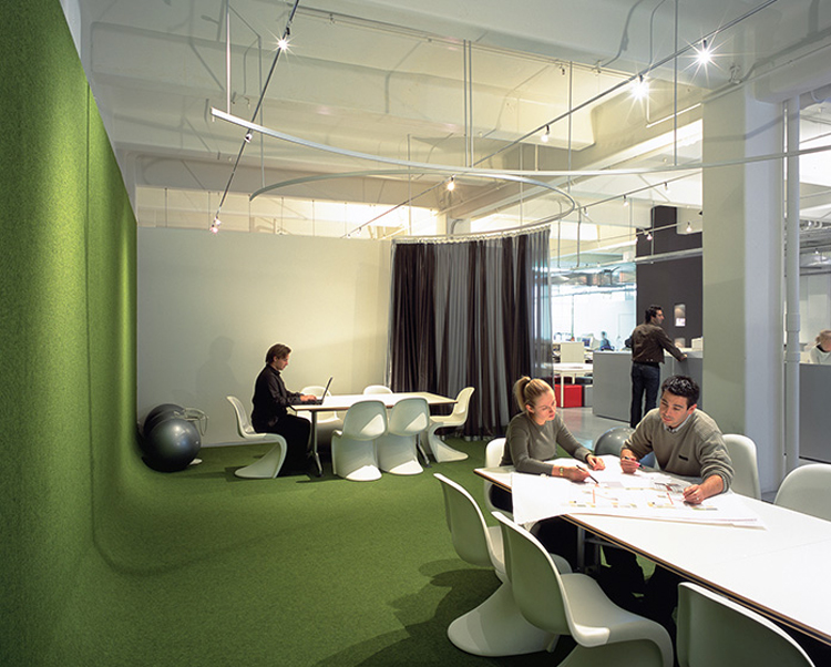 Green Commercial Acoustical Wallcovering from Levey
