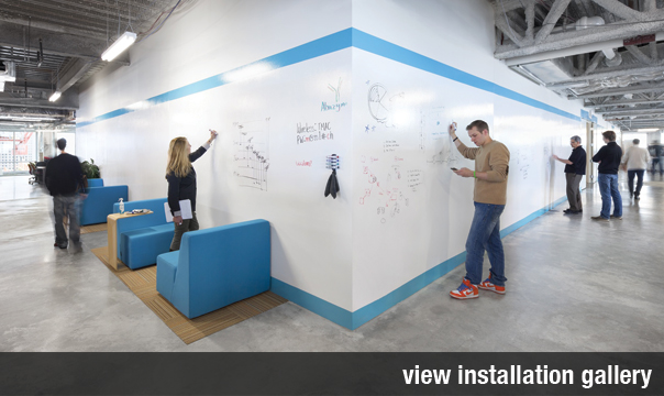 IdeaPaint Dry Erase Paint, Installation Gallery, Levey Industries