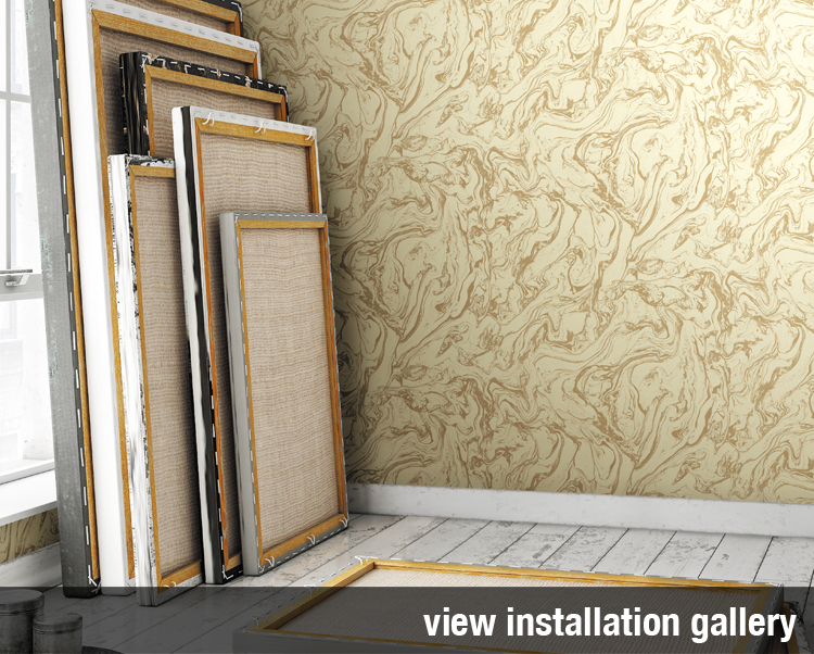 Restoration Elements Commercial Wallcovering, Installation Gallery, Levey industries