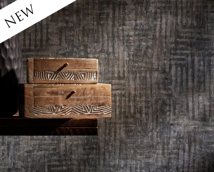Black and Brown Wallcovering, Kyya Commercial Vinyl Wallcovering from Levey