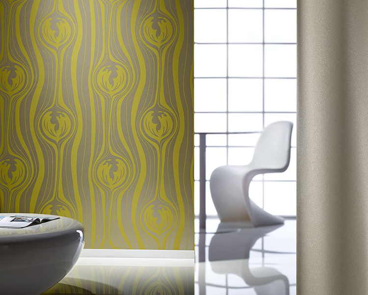 Yellow Wallcovering, Matisse Commercial Vinyl Wallcovering from Levey