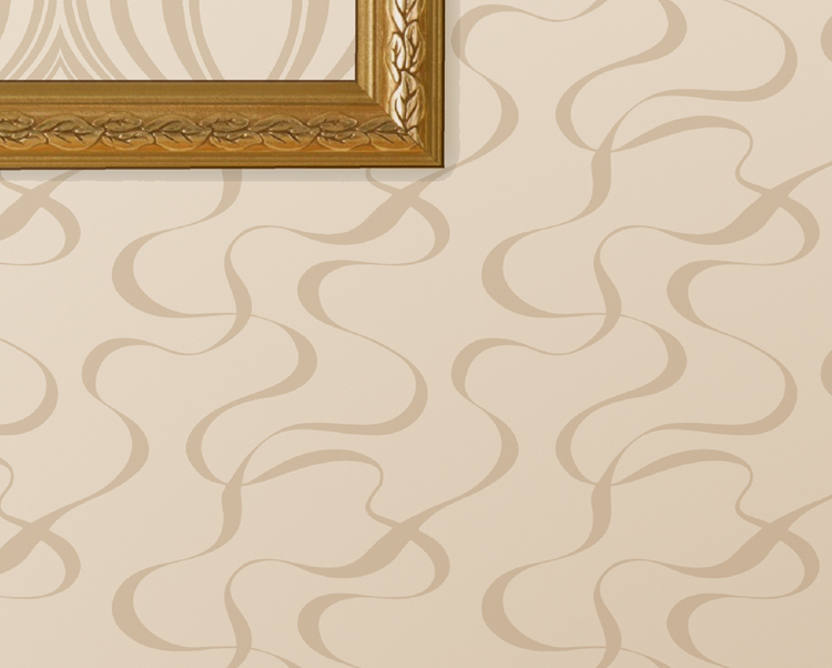 White and Beige Wallcovering, Ribbons Commercial Wallcovering from Levey