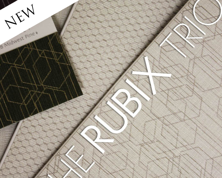 Rubix Trio Commercial Vinyl Wallcovering from Levey