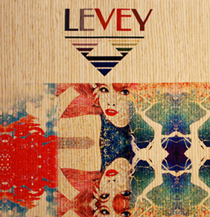 Digital, Custom Wood Veneer Substrate Wallcovering, from LEVEYart