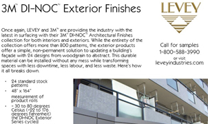 3M DI-NOC Exterior Finishes Wallcovering, Levey Wallcoverings and Architectural Finishes