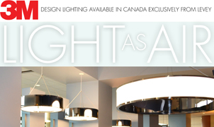 3M Air Lighting, Levey Wallcoverings and Architectural Finishes