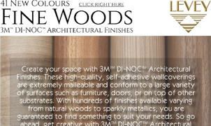 Fine Woods, 3M Wallcovering, Levey Wallcoverings and Architectural Finishes