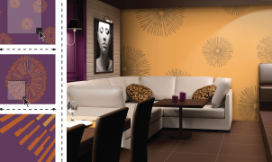 4walls Custom Wallcovering, Three Easy Steps, Levey Wallcoverings and Architectural Finishes