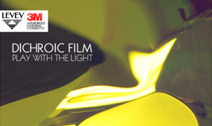 DiChroic Glass Film: Play With The Light from Levey Wallcoverings and Architectural Finishes
