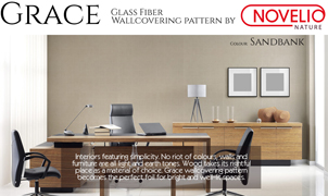 Grace Glass Fiber Wallcovering by Novelio Nature, Levey