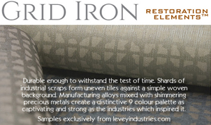 Grid Iron Wallcovering, Levey Wallcoverings and Architectural Finishes