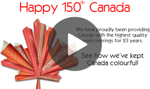 Happy Canada Day, Levey Wallcoverings and Architectural Finishes