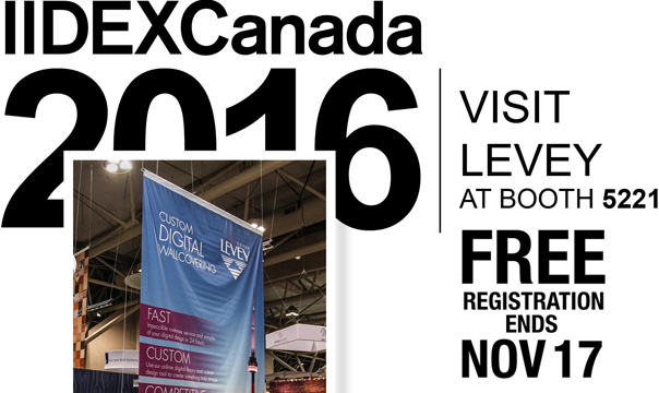 IIDEX Canada 2016 Free Registration, Levey Wallcoverings and Architectural Finishes