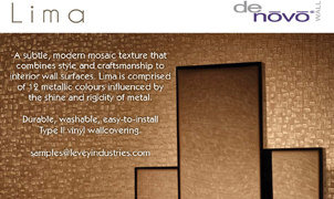 Lima Wallcovering, Levey Wallcoverings and Architectural Finishes