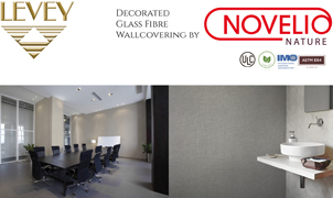 Novelio Nature Glass Fibre Wallcovering from Levey Wallcoverings and Architectural Finishes