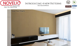 Novelio Glass Fibre Wallcovering, Levey Wallcoverings and Architectural Finishes