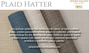Plaid Hatter Wallcovering featured in Interiors and Sources magazine, from Levey Wallcoverings and Architectural Finishes