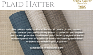 Plaid Hatter Wallcovering, Levey Wallcoverings and Architectural Finishes
