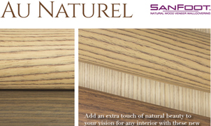 New Sanfoot Naturals, Levey Wallcoverings and Architectural Finishes