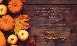 Happy Thanksgiving from Levey Wallcoverings and Architectural Finishes