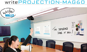 WriteProjection-MAG60 Dry Erase Wallcovering, Levey Wallcoverings and Architectural Finishes