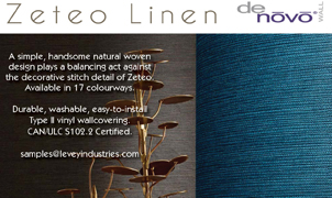 Zeteo Linen Wallcovering from Levey Wallcoverings and Architectural Finishes
