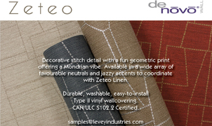 Zeteo Wallcovering from Levey Wallcoverings and Architectural Finishes
