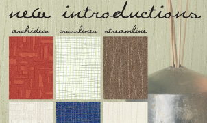 Archideco, Crosslines and Streamline Wallcovering, Levey Wallcoverings and Architectural Finishes