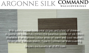 Argonne Silk Wallcovering from Levey Wallcoverings and Architectural Finishes