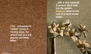 Belgique and Cire Wallcovering, Levey Wallcoverings and Architectural Finishes