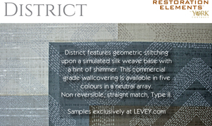 District Wallcovering from Levey Wallcoverings and Architectural Finishes
