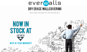 everWalls Dry Erase Wallcovering, Levey Wallcoverings and Architectural Finishes