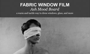 Fabric Window Film - Ash Mood Board from Levey Wallcoverings and Architectural Finishes