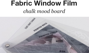 Fabric Window Film - Chalk Mood Board from Levey Wallcoverings and Architectural Finishes