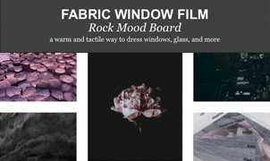 Fabric Window Film - Rock Mood Board from Levey Wallcoverings and Architectural Finishes