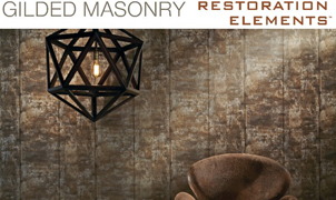 Gilded Masonry Wallcovering, Levey Wallcoverings and Architectural Finishes