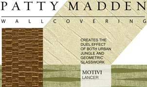 Hannah, Motivi and Bantu Wallcovering, Levey Wallcoverings and Architectural Finishes