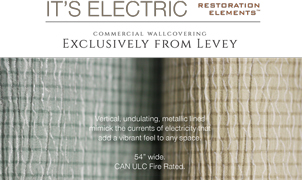 It's Electric Wallcovering, Levey Wallcoverings and Architectural Finishes