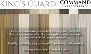 King's Guard Wallcovering from Levey Wallcoverings and Architectural Finishes