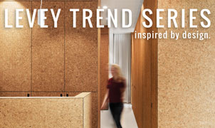 Natural Cork Wallcovering, Levey Wallcoverings and Architectural Finishes