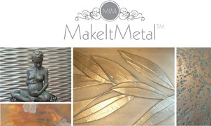 Make it Metal, Levey Wallcoverings and Architectural Finishes