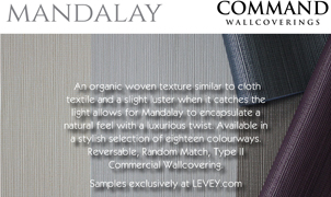 Mandalay Wallcovering from Levey Wallcoverings and Architectural Finishes