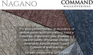 Nagano Wallcovering from Levey Wallcoverings and Architectural Finishes