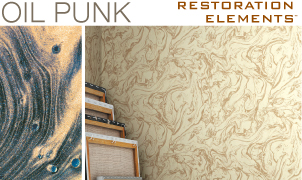 Oil Punk Wallcovering, Levey Wallcoverings and Architectural Finishes