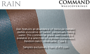 Rain Wallcovering from Levey Wallcoverings and Architectural Finishes