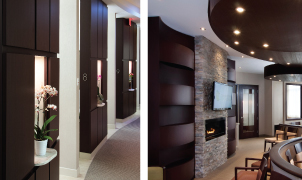 Wenge SanFoot Wood Veneer Wallcovering, Levey Wallcoverings and Architectural Finishes