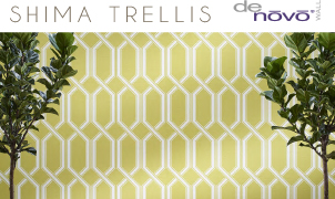 Shima Trellis Wallcovering, Levey Wallcoverings and Architectural Finishes