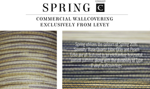 Spring Wallcovering, Levey Wallcoverings and Architectural Finishes
