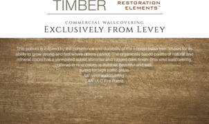 Timber Wallcovering, Levey Wallcoverings and Architectural Finishes