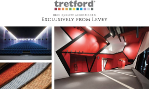Tretford Acousticord, Levey Wallcoverings and Architectural Finishes